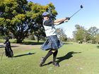 Co-ordinator of the Maclean Veterans week of golf Bruce Walsh is encouraging everyone to wear tartan this week including himself wearing his mothers Ramsey family hunting tartan for the annual golfing event. Photo Debrah Novak / The Daily Examiner