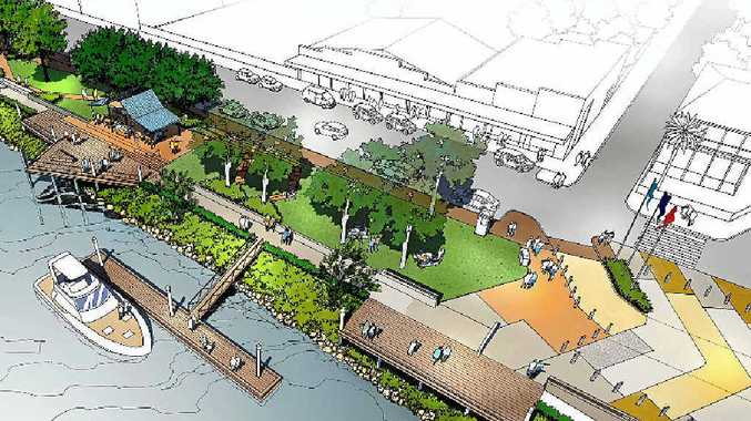 An artist's impression in October, 2015 of how the revamped McLachlan Park could look. Clarence Valley Council has voted simplified McLachlan Park development guidelines that doesn't include some of the 'fancy' improvements such as boardwalks and sandstone walls.