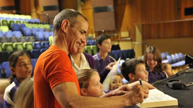 Children's book author Andy Griffiths is in Gladstone from Monday to Wednesday.
