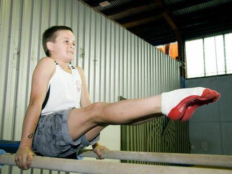 Will Choice at All Stars Gymnastics Club, Toowoomba, Sunday, 28 November 2010. Photo Kevin Farmer / The Chronicle