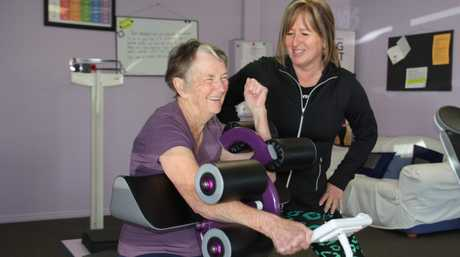 Claudette McLeod has been with Curves for ten years. She's training with Tracey Ferguson.