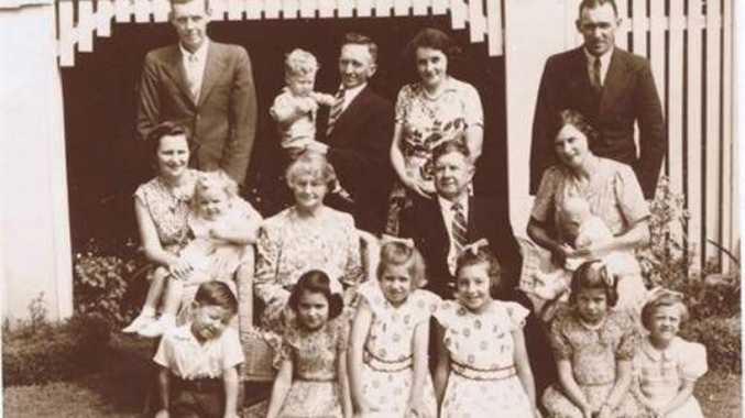 Karren Waring: Florence and John Wilkinson (my great grandparents) and family, farmers from Ninderry. John Wilkinson purchased Point Perry at Coolum in the 1950's for 30 pounds and gifted it 'to the people of Coolum' so that it wouldn't be developed.