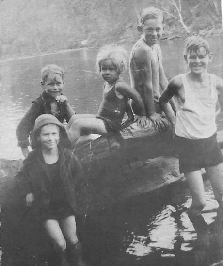 Michele Thomas: My mum, Margaret Nutter, with her four brothers, Cowan mid 1930's