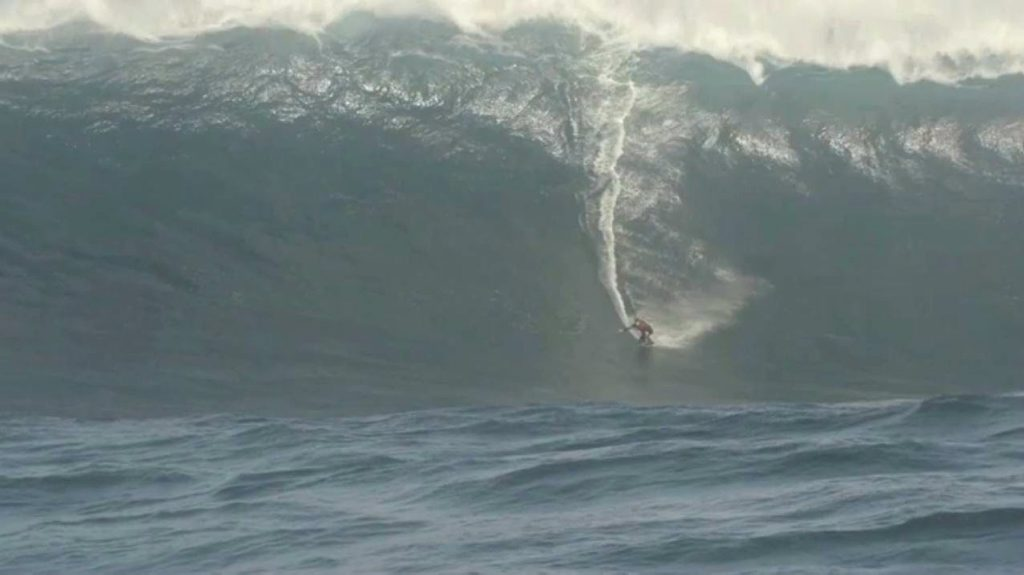 WILD RIDE: Local surfer Justin Holland heard a
