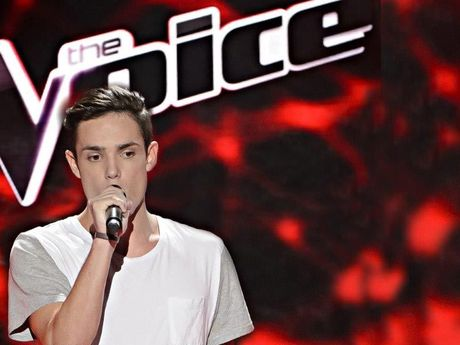 LIVING THE DREAM: Adam Spain-Mostina performs on stage as part of The Voice.