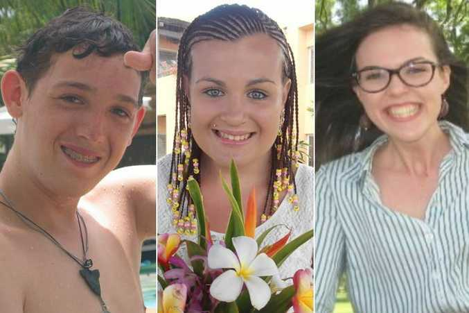 Will Fowell, Talieha Nebauer and Caitlin Wilkinson Whiticker died after the Barrett Centre closed in 2014. (Supplied)