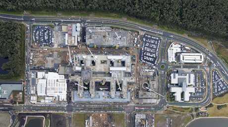 Aerial Sunshine Coast Public University Hospital June 2015.