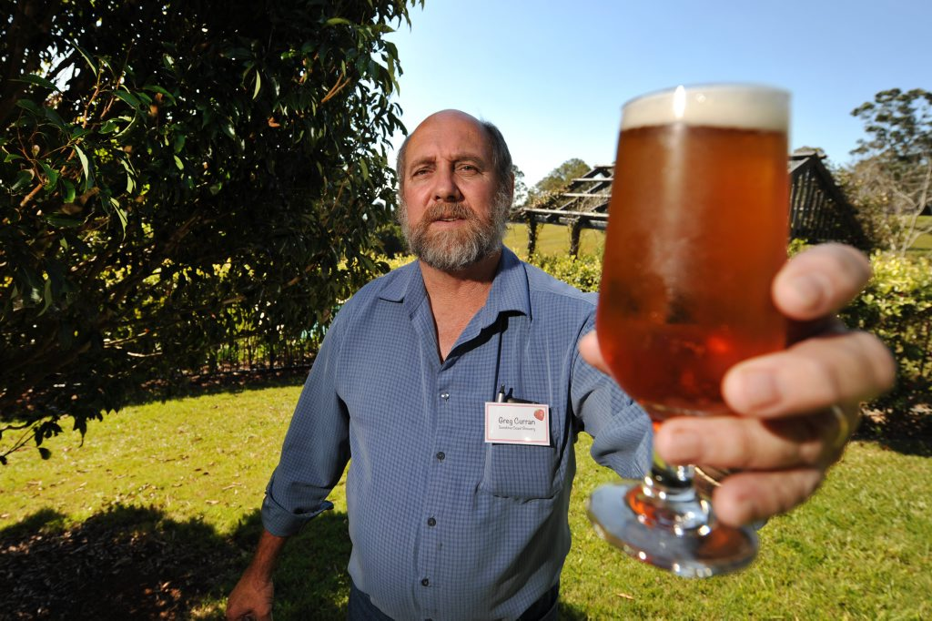 Greg Curran from Sunshine Coast Brewery has the answer for unwanted strawberry stocks- strawberry beer.
