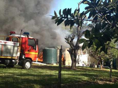 House fire, Eumundi Noosa Road. Photo: Geoff Potter/Sunshine Coast Daily