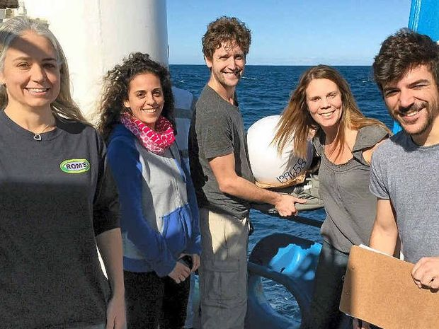 DISCOVERIES: Oceanographers from the University of New South Wales release satellite drifters into eddies as part of research undertaken off the Coffs Coast.