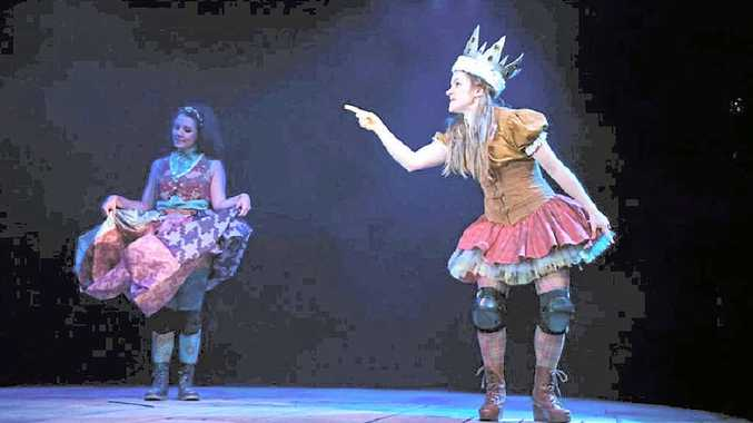 STORY FUN: Actors Nelle Lee and Judy Hainsworth performing Roald Dahl's twisted fairytales.