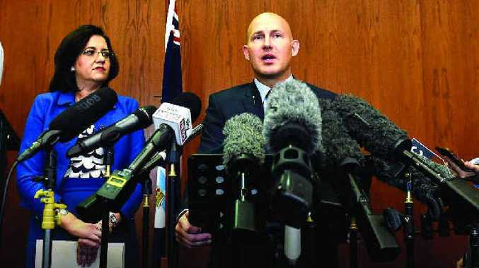 D-DAY: Queensland Premier Annastacia Palaszczuk and Queensland Treasurer Curtis Pitt face the press prior to the Queensland Budget being delivered yesterday.