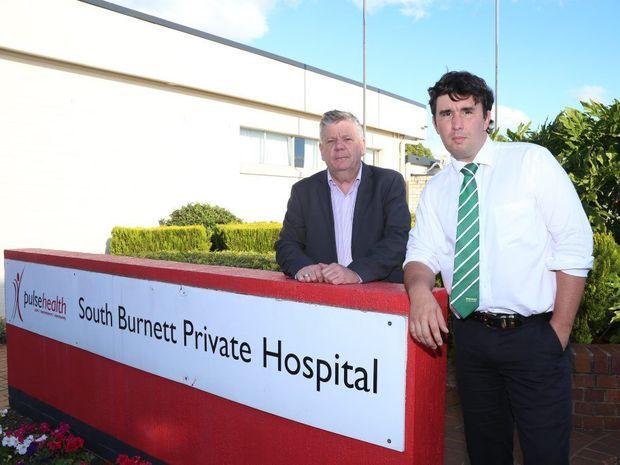 DESPERATE DASH: Mayor Wayne Kratzmann and Councillor Damien Tessmann will fly to Sydney next week to lobby Pulse Health to keep the South Burnett Private Hospital open. Photo Tessa Mapstone / South Burnett Times
