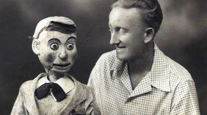 LITTLE MATE: Tom Hussey with his ventriloquism doll called Joey. Photo: contributed