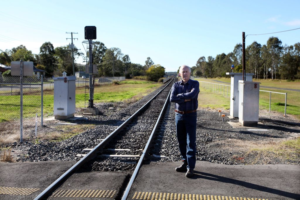 OFF TRACK: Grandchester Community Steamfest secretary Bruce Wallace is upset there are no trains from Ipswich to Grandchester for the 150th anniversary of Queensland Rail. Photo Contributed