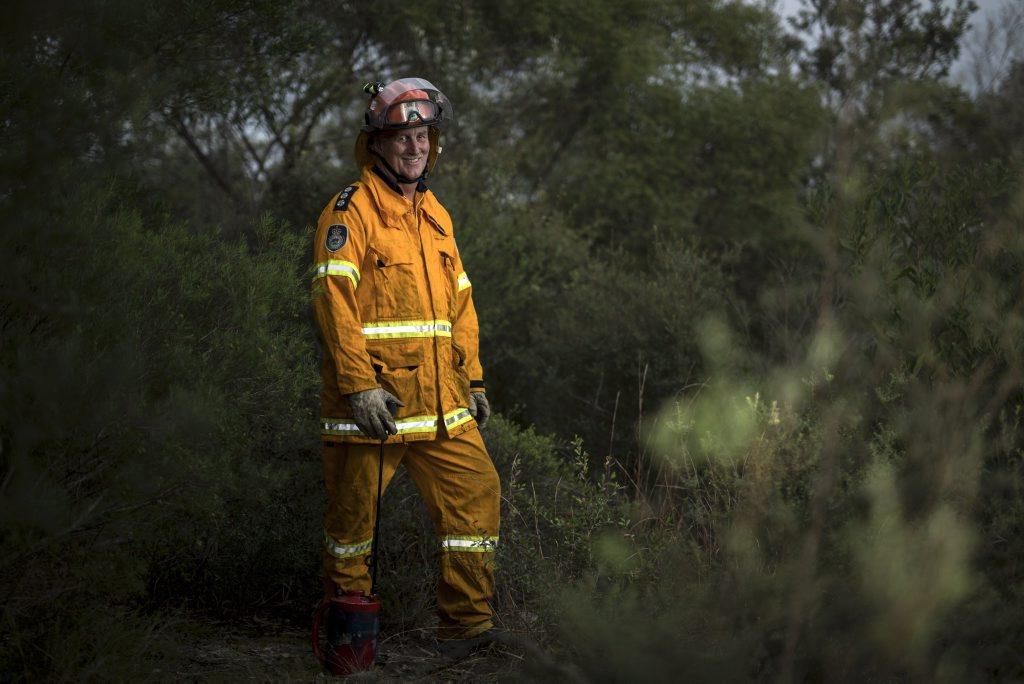Cudgen Rural Fire Service volunteer Mark Eglington is among four finalists in the Rotary NSW Emergency Services Community Awards. Photo: Nolan Verheij-Full / Tweed Daily News