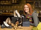 Anna Gundry with some of the shoes donated to raise funds for It's a Bloke Thing.