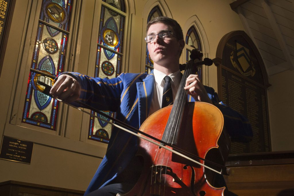 SYMPHONY STUDENT: Toowoomba Grammar student Hugh Hansen has been accepted into the Symphony Orchestra as one of the six cellos after auditioning against 1900 applicants. Wednesday, Jul 15, 2015 . Photo Nev Madsen / The Chronicle