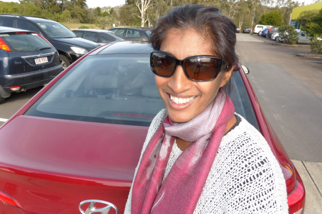 Vani Naidoo talks about her SUV. Photo: Iain Curry.
