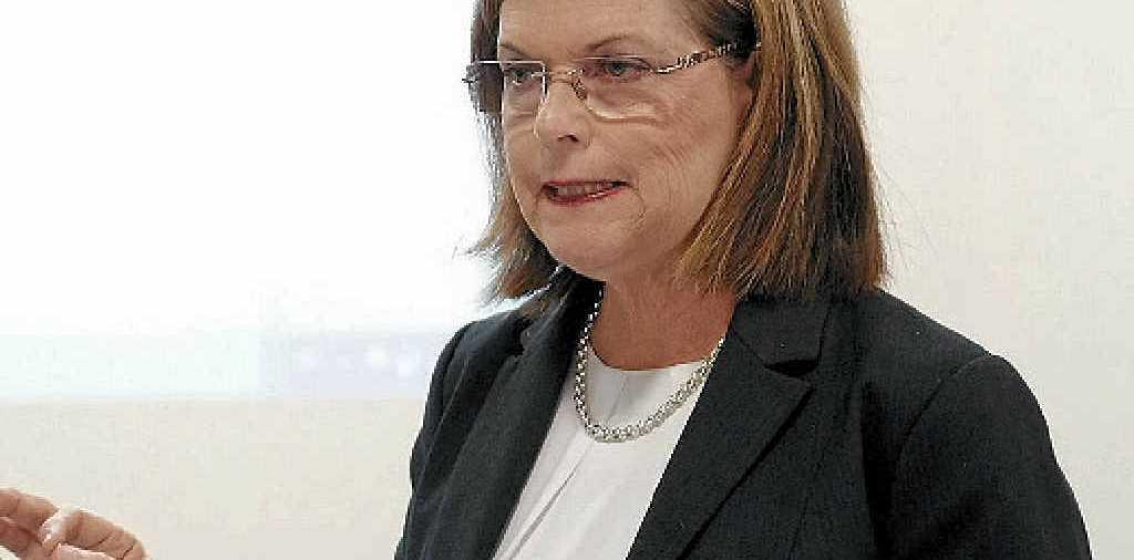 PLEASED: Whitsunday Regional Council mayor Jennifer Whitney during Tuesday's special budget meeting. PHOTO MATTHEW NEWTON