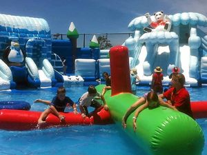 Inflatable water park to add to school holiday fun