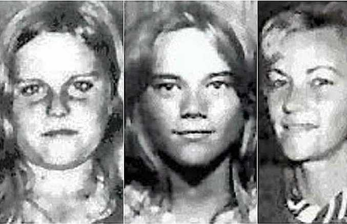 BODIES NOT FOUND: Barbara McCulkin (right) and her daughters Vicky (left) and Leanne (centre) disappeared from their home on January 16, 1974.