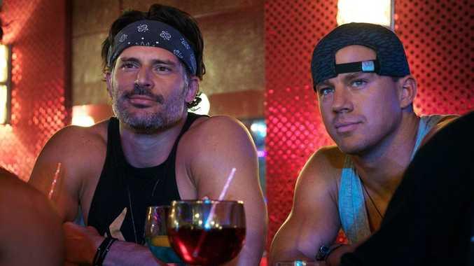 STARS: Joe Manganiello and Channing Tatum in a scene of Magic Mike XXL.