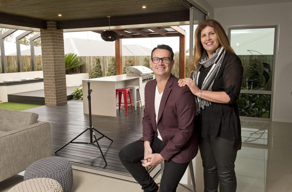 Australia's Best Houses host Gary Tackle loves the spacious living area Mandy Adams created.