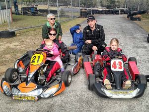 Three generations of Wrights have hit Grafton go kart track