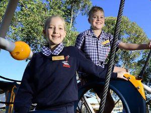 School celebrates fun new playground additions