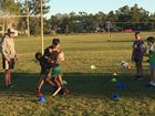KICK-START: Rockhampton Tigers' juniors took part in a training session run by North Queensland Cowboys' coaching staff.