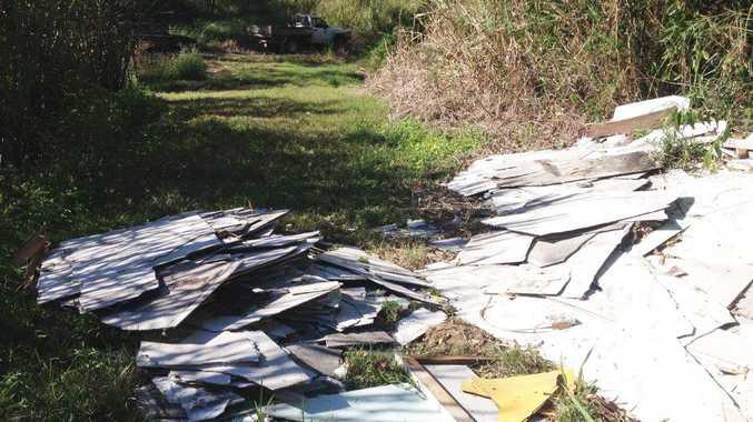 Asbestos sheeting was dumped at a cane farm on Rutlands Road off Yakapari-Seaforth Road