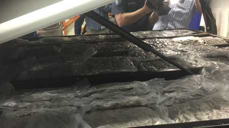A million-dollars in marijuana hidden in the cavity of a ute intercepted by police at Withcott.