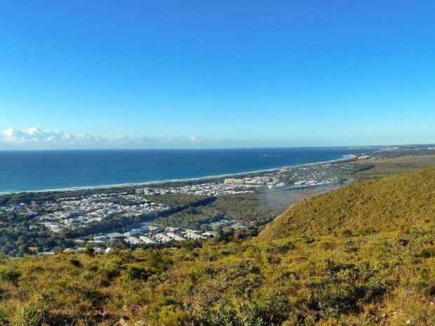 Montri Muenouy Morning climb up to Mount Coolum Summit.