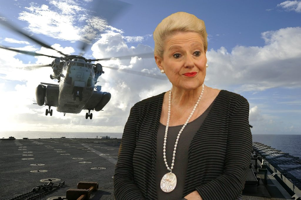 Speaker of the House Bronwyn Bishop was in the firing line for chartering a $5000 helicopter ride to a Liberal Party fundraiser last year.