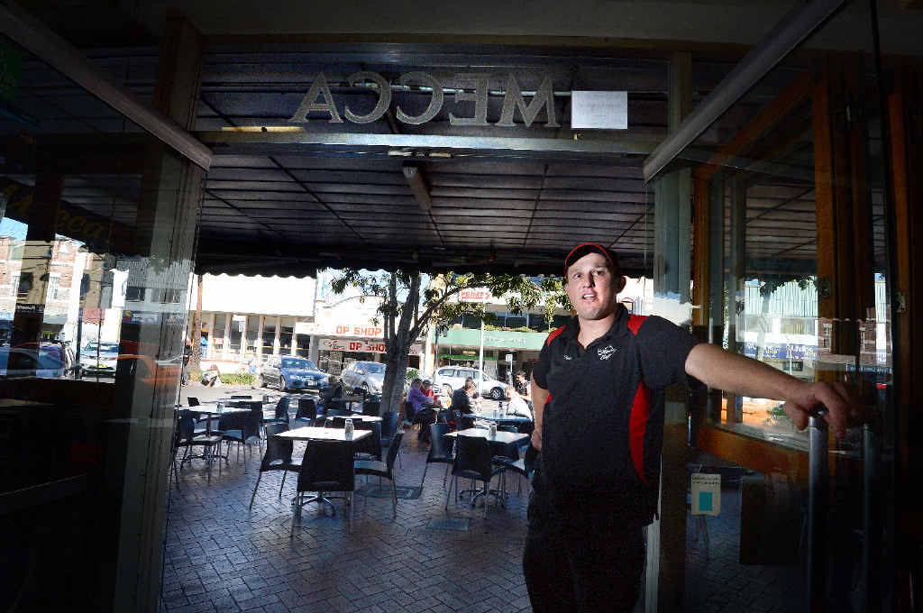 HARD TO ENFORCE: Owner of the Mecca Cafe in Lismore, Todd McLean, has talked about the difficulties in policing the non-smoking policy.