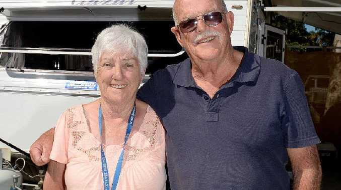 Jan and John Haffenden are on their second trip to Mackay from Wodonga, Victoria.