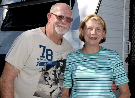 Colin and Elaine Spargo love the scenery as they travel around with friends.