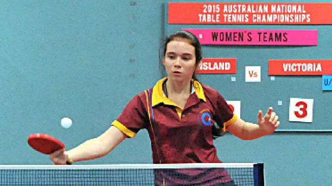 Mackay's Rebekah Stanley at National Senior Championships held at Croydon and District Table Tennis Association.