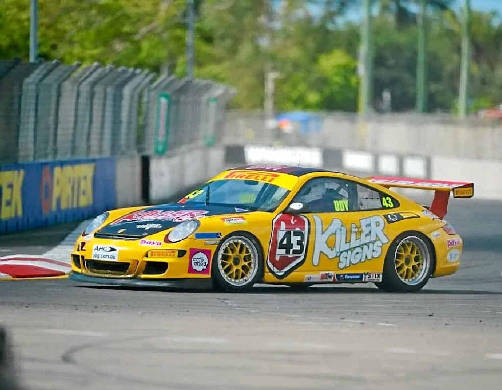 OUT OF CONTROL: The Killer Racing GT3 Porsche 'Bumblebee' stops traffic in the Castrol Edge Townsville 400. The team should be proud of their results.PHOTOS CONTRIBUTED