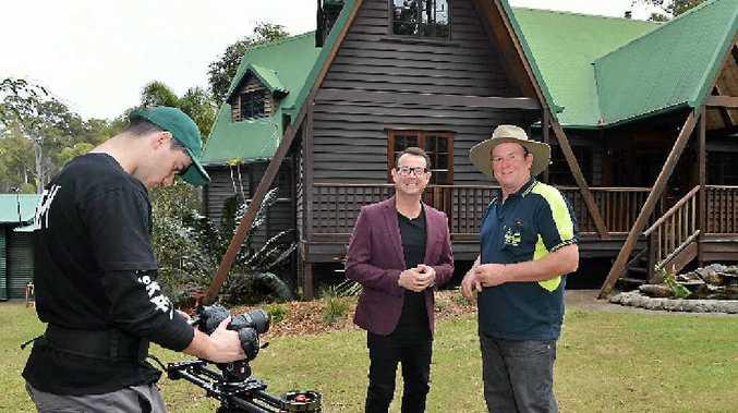 UNIQUE: Television show Best Houses Australia at Glen Schluter's Pie Creek home.