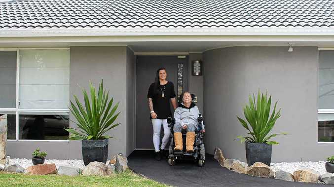 CARING DAUGHTER: Natalie Manasse and her mum Angela at their newly-renovated Tewantin home.
