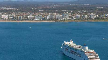 PERFECT DAY: With the sea looking more like a duck pond, the Pacfic Pearl heads towards Mooloolaba.