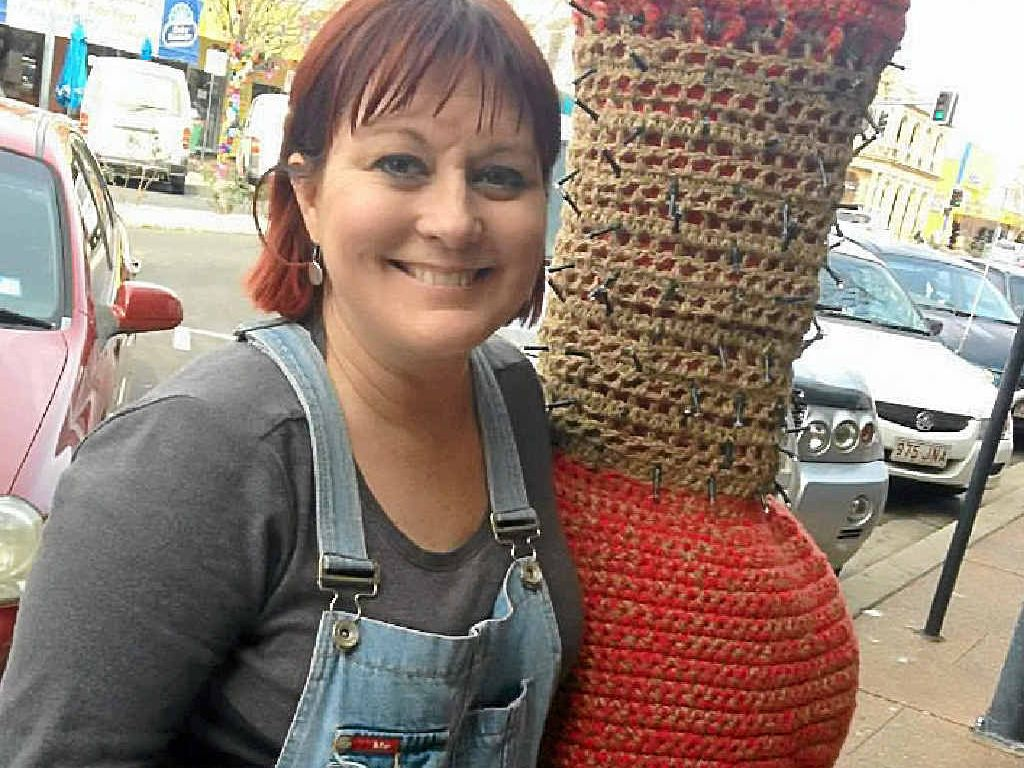 Jessica Thompson won the excellence in knitting and crochet for her red tree monster, Scarlett. She has entered a tree jumper in 11 of the 12 Jumpers and Jazz in July festivals.