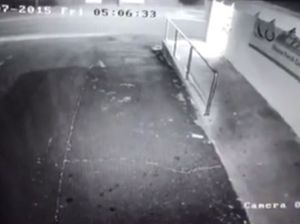 Snow captured on butcher's CCTV
