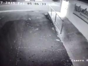 Snow captured on butcher's CCTV