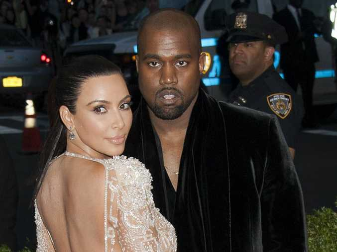 Kim Kardashian West and Kanye West at the 2015 Met Gala