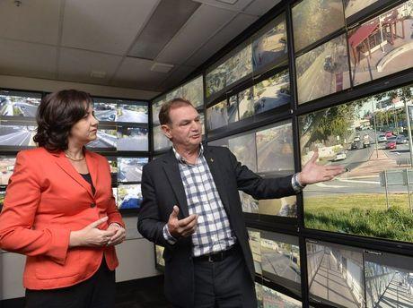 Premier Annastacia Palaszczuk and Mayor Paul Pisasale at City Safe Facilities. Photo Inga Williams / The Queensland TimesPhoto Inga Williams / The Queensland Times