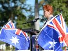 Pauline Hanson addresses the Reclaim Australia rally in Rockhampton. Photo: Chris Ison / The Morning Bulletin