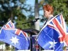 Pauline Hanson addresses the Reclaim Australia rally in Rockhampton. Photo: Chris Ison / The Morning Bulletin
